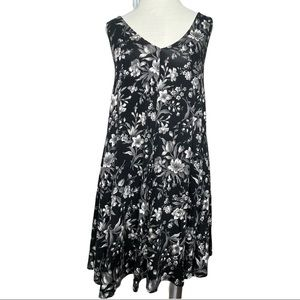 American Eagle Black Floral Soft & Sexy Sleeveless